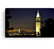 UC Berkeley Clock Tower @ Nite Canvas Print