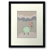 Cloudy with a chance of... anything Framed Print