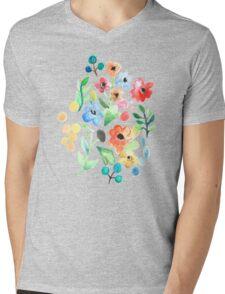 Flourish - Watercolor Floral Mens V-Neck T-Shirt
