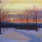 Winter Sunset  by Tash  Luedi Art