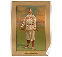 Benjamin K Edwards Collection Jake Stahl Boston Red Sox baseball card portrait Poster
