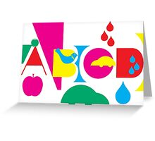 Graphic ABC Greeting Card