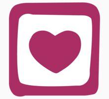 Pink Heart T-shirt Kids Tee