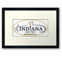 SSN-789 USS Indiana Pre-Commissioning Unit Crest Framed Print