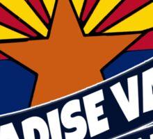 Paradise Valley Arizona flag burst Sticker