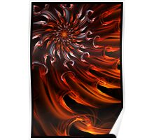Solar Waves - Abstract Fractal Art Poster