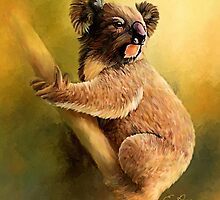 Sitting Koala by ellenspaintings