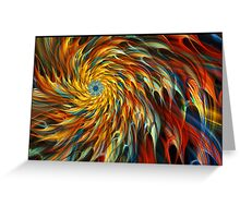 """Creative Burst"" - Abstract Geometric Fractal Art Greeting Card"