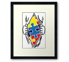 Autism Superhero Framed Print