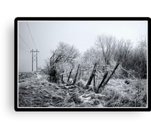 Posts and Wires Canvas Print