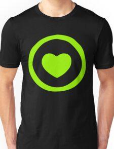 Lime Green Heart T-shirt Unisex T-Shirt