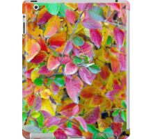 Background of vivid red and green autumn leaves iPad Case/Skin