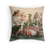 The Veggie Patch Throw Pillow