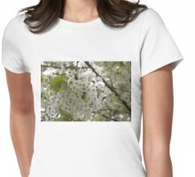 Springtime Dreams - Masses of White Blossoms Womens Fitted T-Shirt