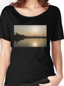 Let's Sail - Sunny Morning Marina Women's Relaxed Fit T-Shirt