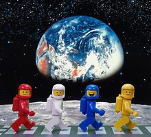 The Beatles on the moon. by Wonderfulbricks
