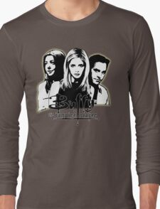 A Trio of Scoobies (Willow, Buffy & Xander) Long Sleeve T-Shirt
