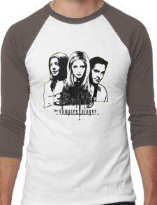 A Trio of Scoobies (Willow, Buffy & Xander) Men's Baseball ¾ T-Shirt