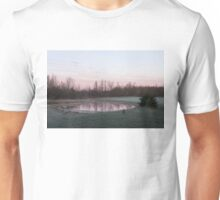 Pink Pond - A Peaceful Daybreak On The Farm Unisex T-Shirt