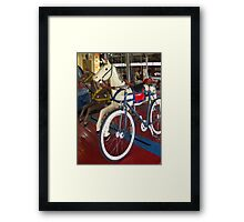 Fixie Play & Fun Framed Print