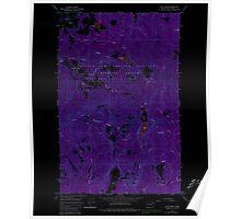 USGS Topo Map Washington State WA Cliff Ridge 240573 1964 24000 Inverted Poster