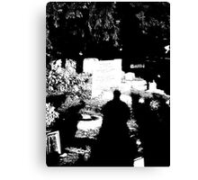 A ghostly grave Canvas Print