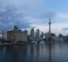 TO Harbour - Toronto's Skyline From The Island Airport by Georgia Mizuleva