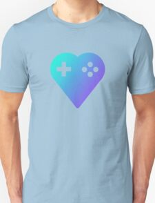 Blue We Love Gaming Heart T-Shirt