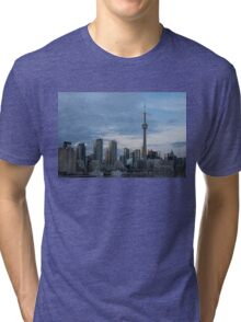 Up Close And Personal - Toronto's Skyline From The Island Airport Tri-blend T-Shirt