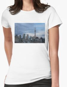 Up Close And Personal - Toronto's Skyline From The Island Airport Womens Fitted T-Shirt