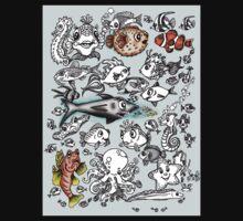 Cartoon Fishies Baby Tee