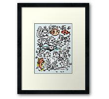 Cartoon Fishies  Framed Print
