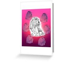 Basset Pink Greeting Card