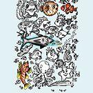 Cartoon Fishies IPhone Case by Ameda Nowlin