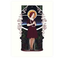 Dana Scully Art Nouveau Art Print
