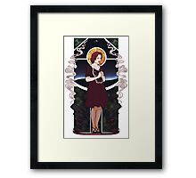 Dana Scully Art Nouveau Framed Print