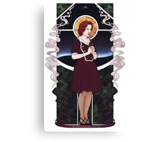 Dana Scully Art Nouveau Canvas Print