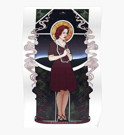Dana Scully Art Nouveau Poster