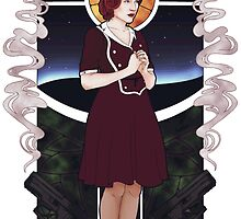 Dana Scully Art Nouveau by leeminkyo