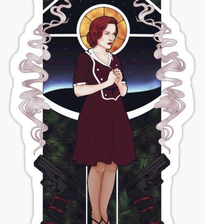 Dana Scully Art Nouveau Sticker