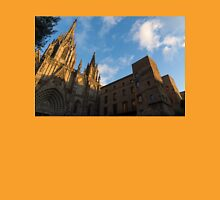 Warm Sun Glow On The Cathedral Of Barcelona Unisex T-Shirt