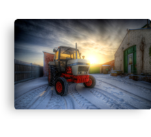 Tractor Sunrise  Canvas Print