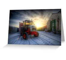 Tractor Sunrise  Greeting Card