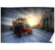 Tractor Sunrise  Poster