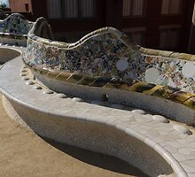 Gaudi's Park Guell Sinuous Curves  by Georgia Mizuleva