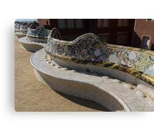 Gaudi's Park Guell Sinuous Curves  Canvas Print