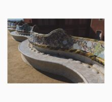 Gaudi's Park Guell Sinuous Curves  Kids Tee