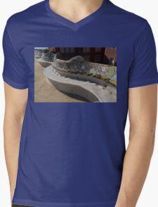 Gaudi's Park Guell Sinuous Curves  Mens V-Neck T-Shirt
