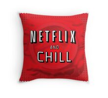 Netflix and chill - condom Throw Pillow