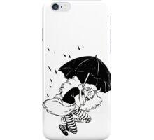 umbrella falling iPhone Case/Skin